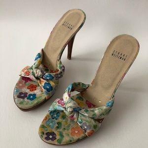 Stuart Weitzman heel sandal platform knotso Size 9